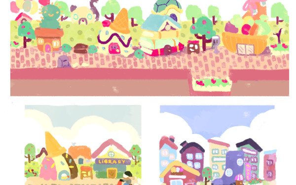 Early Town Color Study