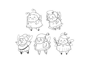 Fat Fairy - Rough Sketch