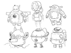 Robot Boss - Rough Sketch