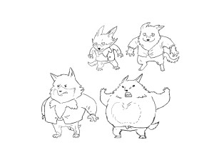 Wolf Final Form - Rough Sketch
